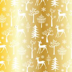 gold winter pattern