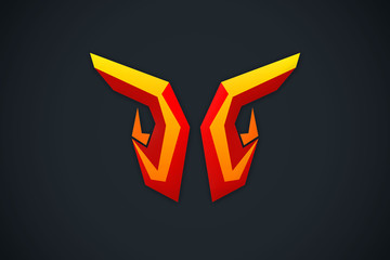 3D abstract symbol technology logo vector