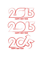 Set of design elements of happy new year 2015.