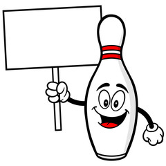 Bowling Pin with Sign