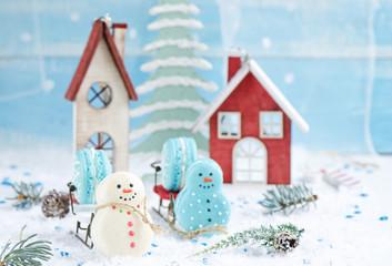 Christmas makarons
