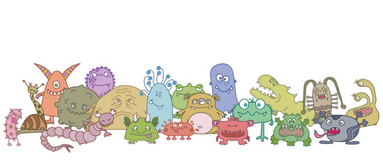 different scary germs