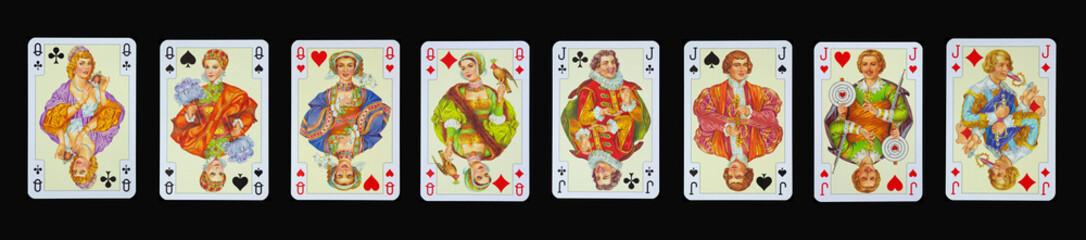 Spielkarten - Damen und Buben in Luxus und Nostalgie