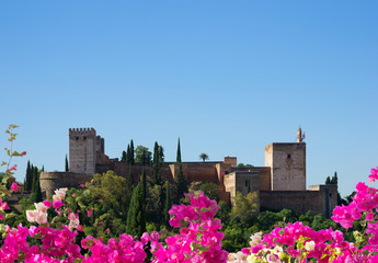 fortress of Alhambra, Spain