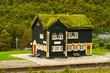 Building of railway station, Norway - 74738540
