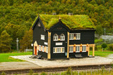 Building of railway station, Norway