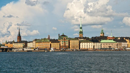 Panorama of the centre of Stockholm