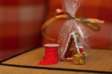 Weihnachten - Geschenkband und Geschenke