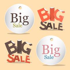 Big Sale Vector Labels - Tags Set