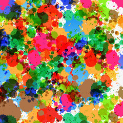Colorful Splashes - Blots Background
