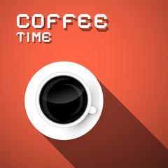 Coffee Time Vector Retro Illustration