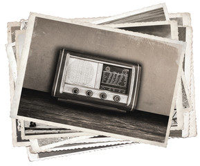 Old photos Vintage fashioned radio