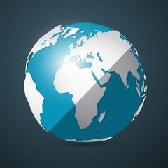 Globe - Earth Vector Illustration