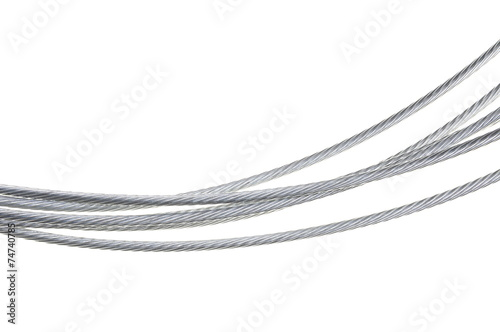 Steel rope isolated on white background Poster