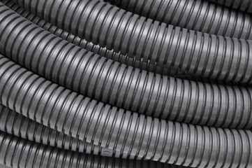 Black corrugated pipes
