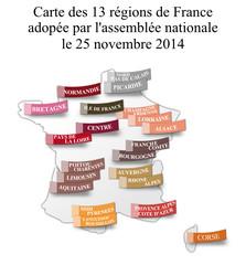 Carte des régions de France adoptée