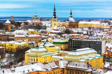 Winter scenery of Tallinn, Estonia