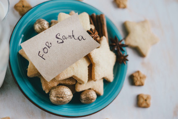 Milk and cookies for Santa Claus