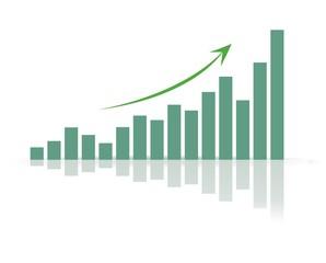 Trend positiv grün