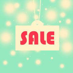 Vintage seasonal sale illustration background