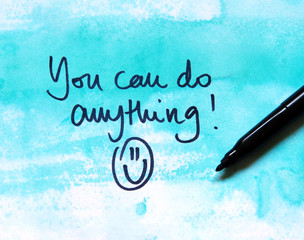 motivational message you can do anything