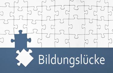 Puzzle mit Bildungslücke