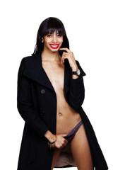 Skinny Light Skinned Black Woman Bare Chest
