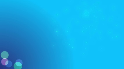 Looped blue calm and soft background with animated particles