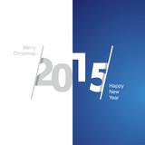 Fototapety 2015 Happy New Year gray white blue background