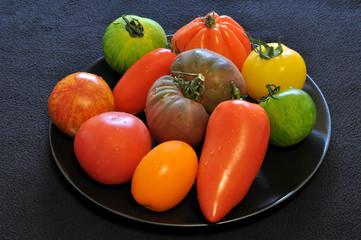 Differentes sortes de tomates originales