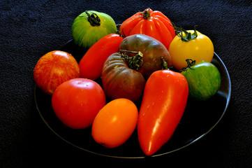 Differentes sortes de tomates
