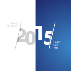 2015 Happy New Year gray white blue background