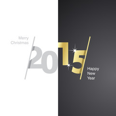 2015 Happy New Year gray gold black background