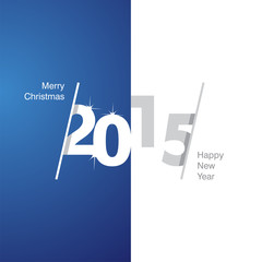 2015 Happy New Year blue white gray background