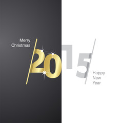 2015 Happy New Year black gold gray background