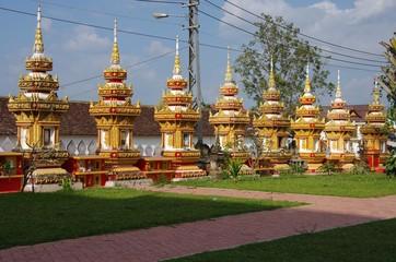 Stupas à Vientiane, Laos