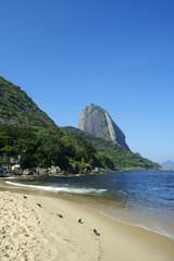 Red Beach Sugarloaf Mountain Rio de Janeiro Brazil