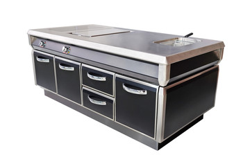 professional electric stove at restaurant