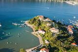 aerial view of Croatia coast line. Rab island