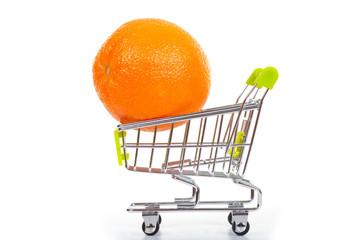Orange in shopping cart