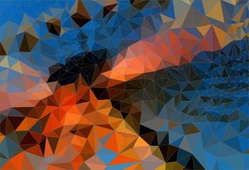 Abstract background mosaic, funfair, big wheel