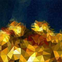 Abstract background mosaic, funfair, carousel