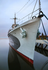 Old destroyer in Gdynia. Poland
