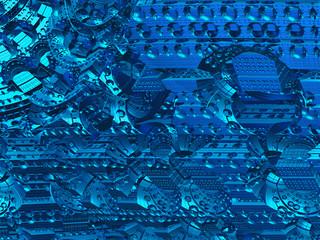 Dark blue hi-tech background
