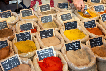 Bags with spices