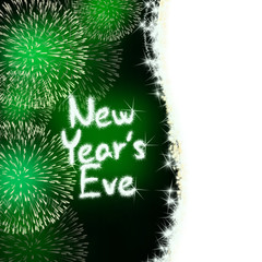 new years eve anniversary firework celebration party green
