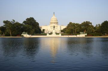 Capitol Building Washington DC USA with Pond