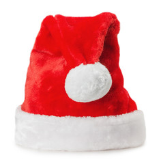 Santa Claus hat isolated on the white background