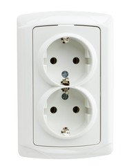 double socket isolated on the white background