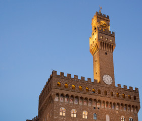 Old Palace at evening, Florence